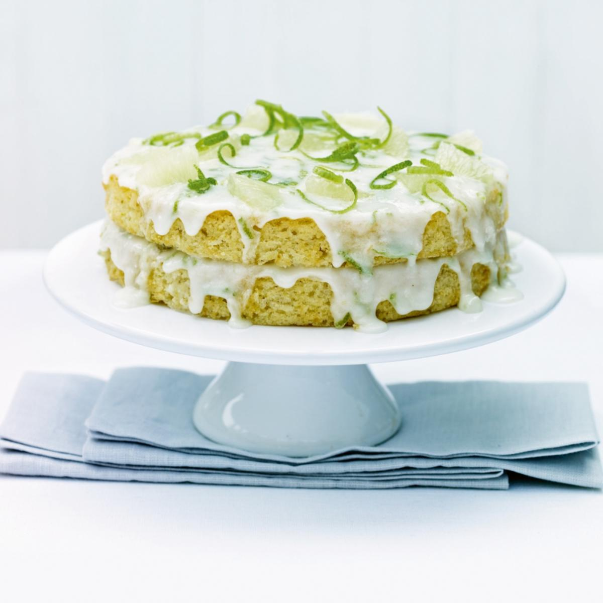 A picture of Delia's Fresh Lime and Coconut Cake recipe