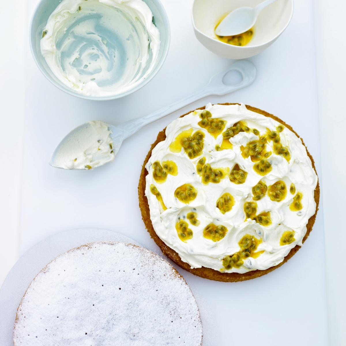 A picture of Delia's Fresh Orange and Passion Fruit Cake recipe