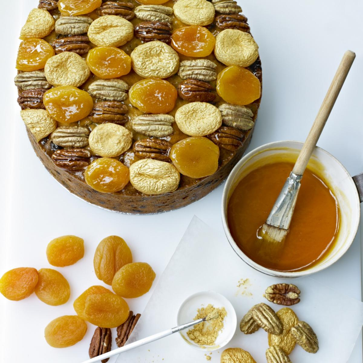 A picture of Delia's Golden Apricot and Pecan Topping recipe