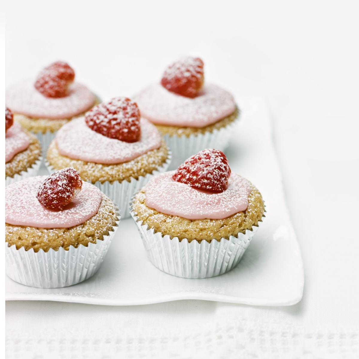 A picture of Delia's Iced Hidden Strawberry Cup Cakes recipe
