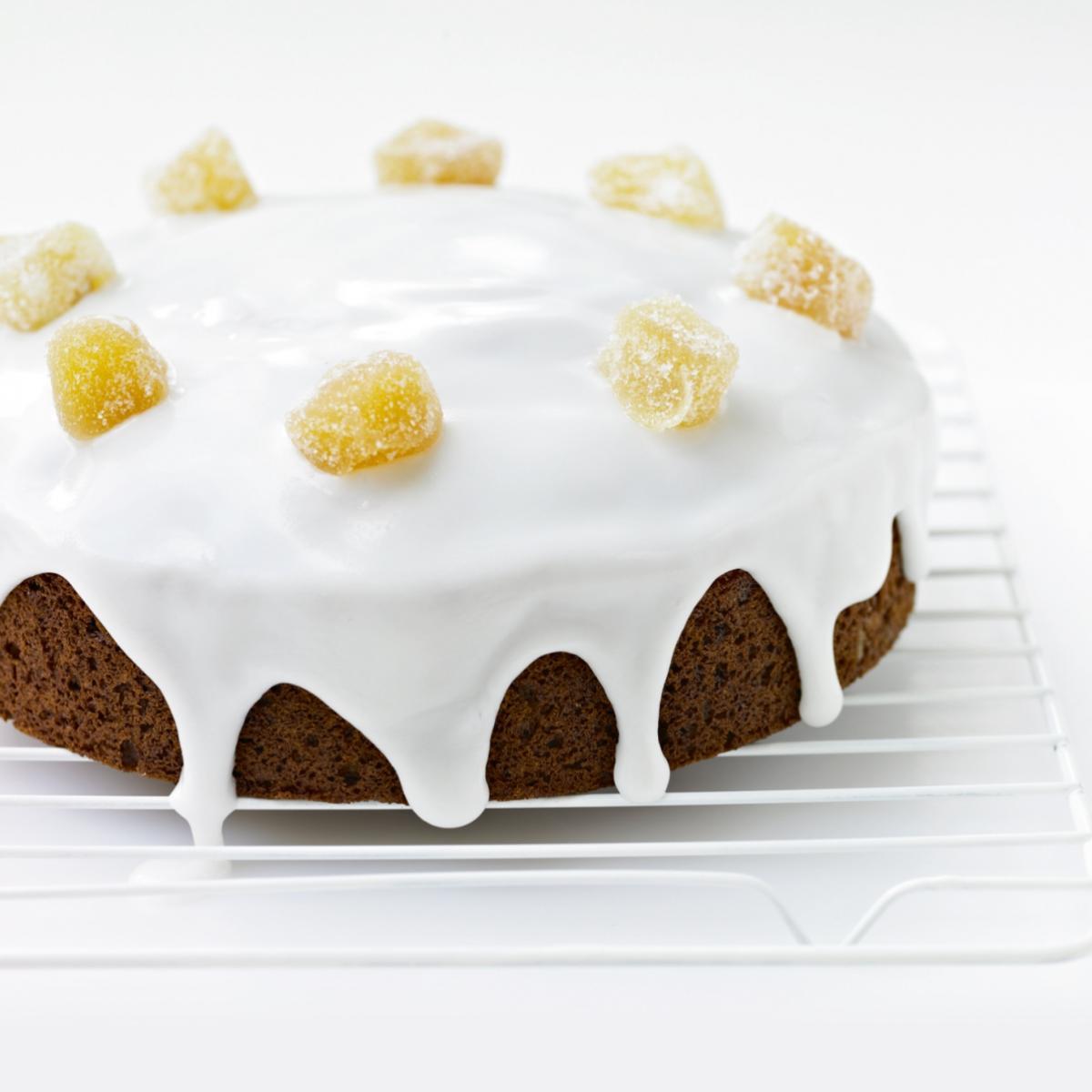 Iced Ginger Loaf Cake Recipe