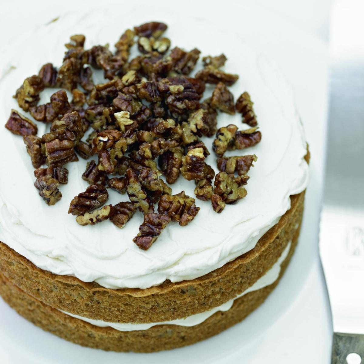 A picture of Delia's Maple and Caramelised Pecan Cake recipe