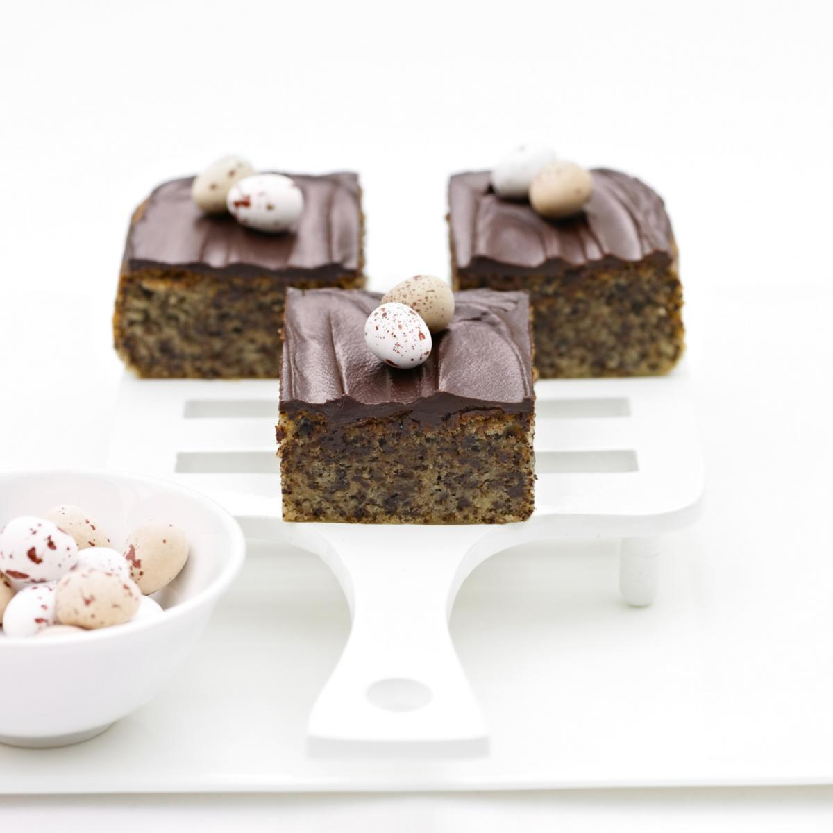 Cakes moist chocolate and rum squares