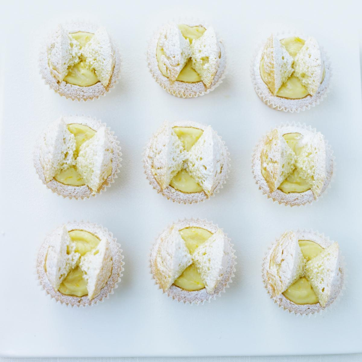 A picture of Delia's Orange Curd Butterfly Cakes recipe