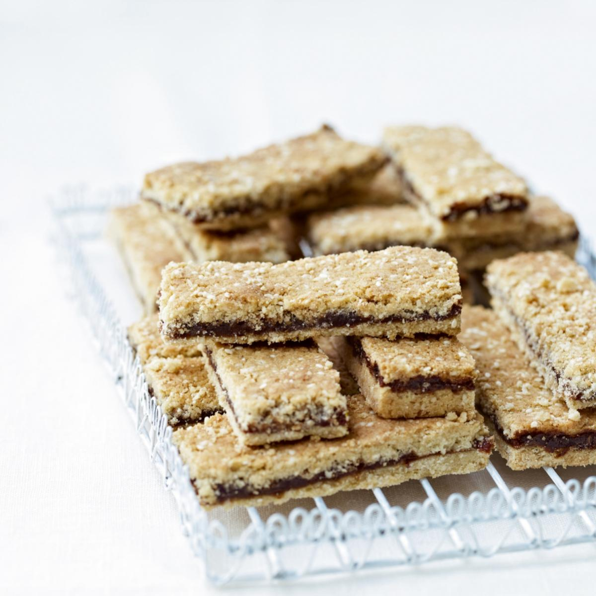 A picture of Delia's Spiced Date and Sesame Crunchies recipe
