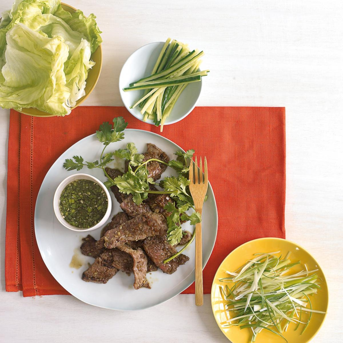A picture of Delia's Asian Steak Sandwiches recipe