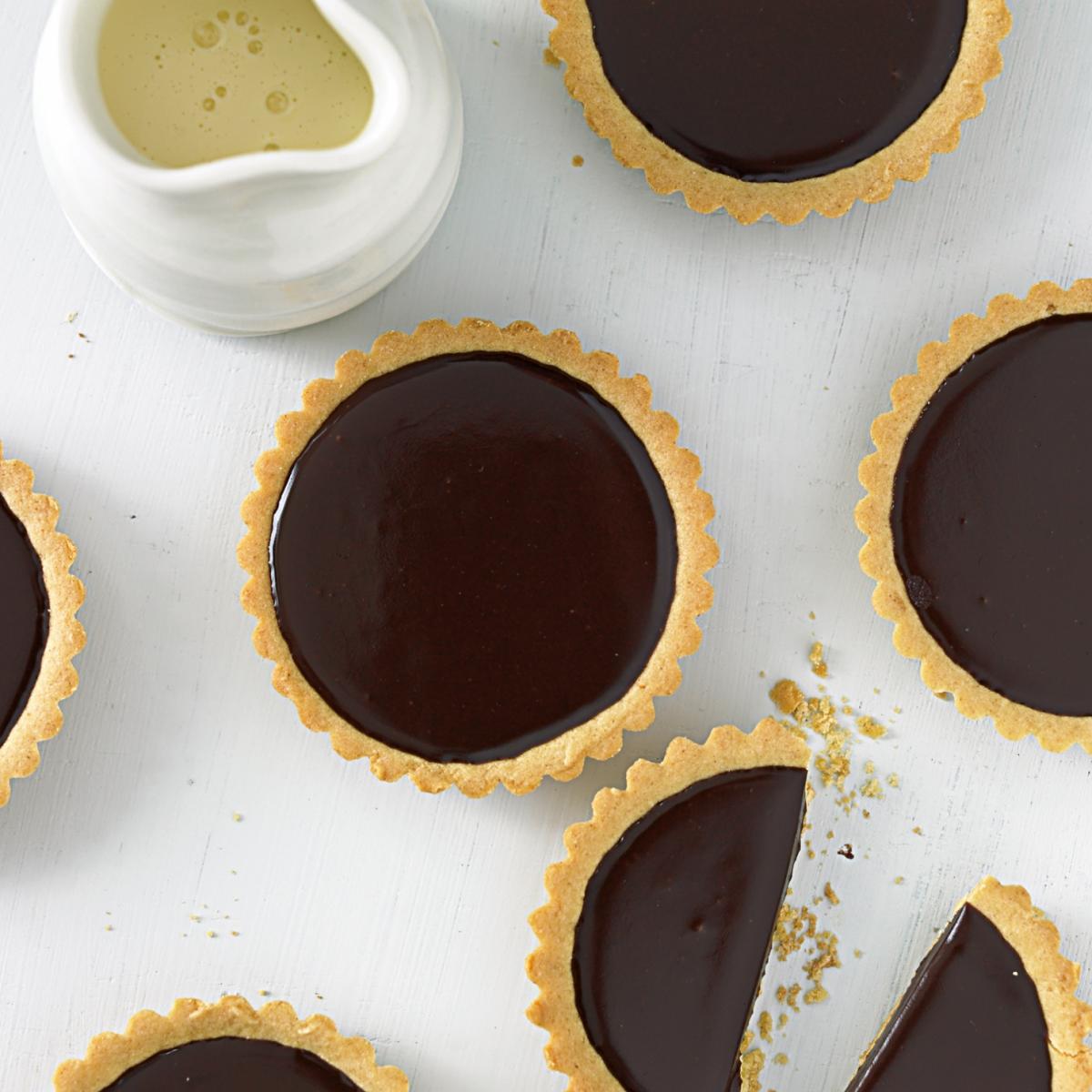 Cheat chocolate tartlets