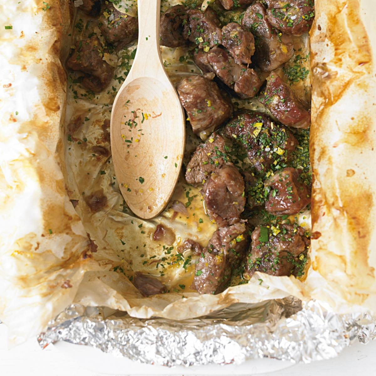 Cheat greek lamb baked with lemon and garlic