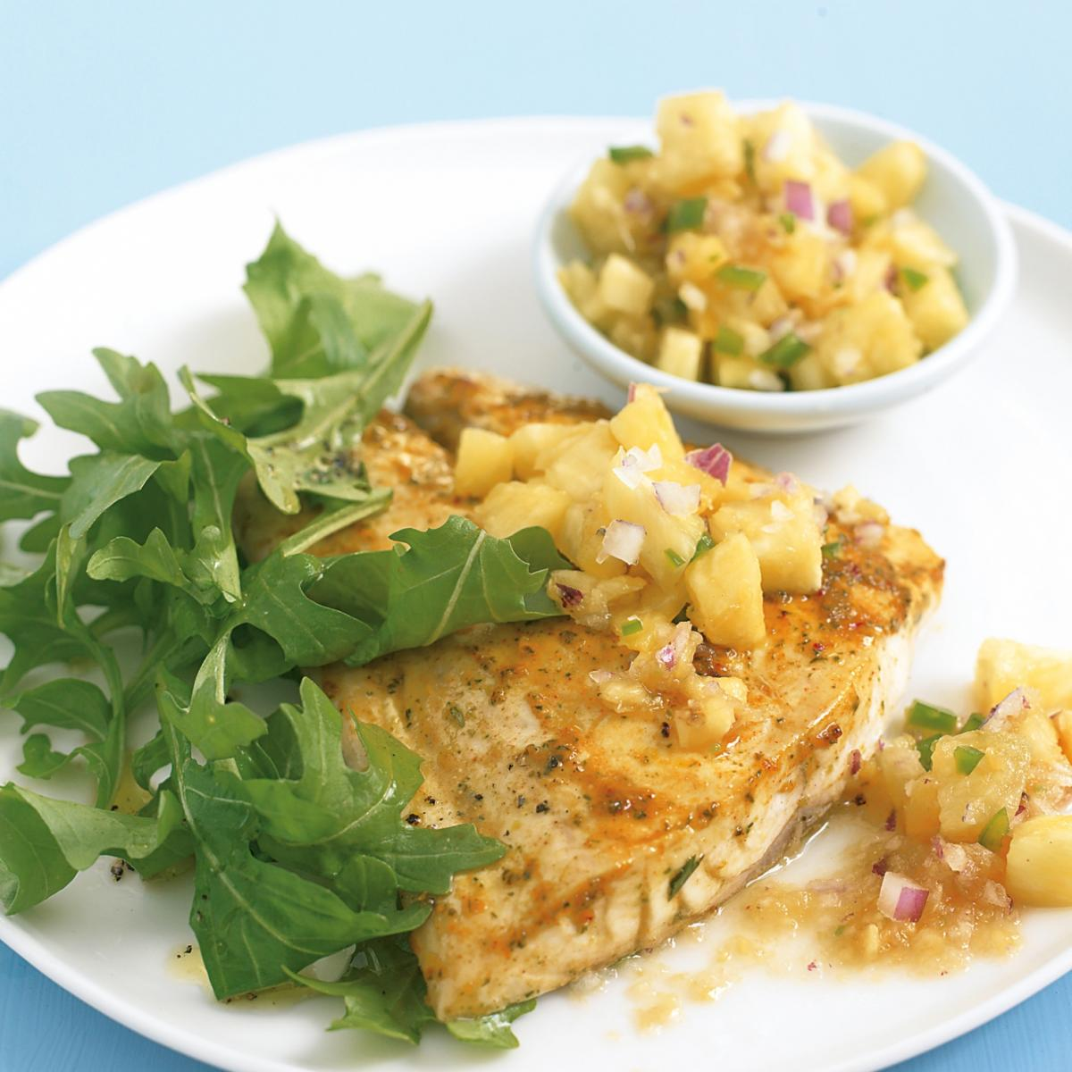 A picture of Delia's Moroccan Grilled Fish with Pineapple Salsa recipe