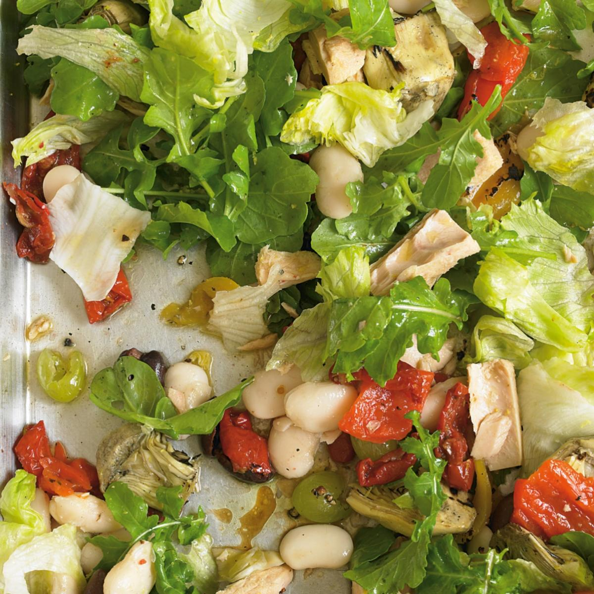 A picture of Delia's Spanish Tuna Salad with Peppers, Olives and Artichokes recipe