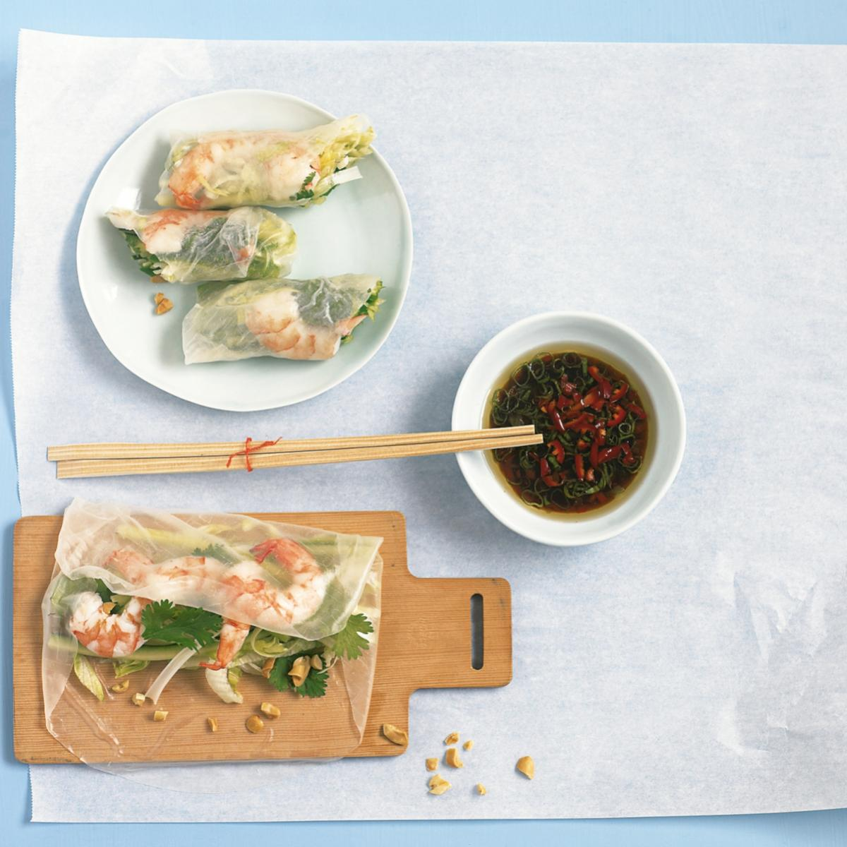 A picture of Delia's Vietnamese Spring Rolls with Dipping Sauce recipe