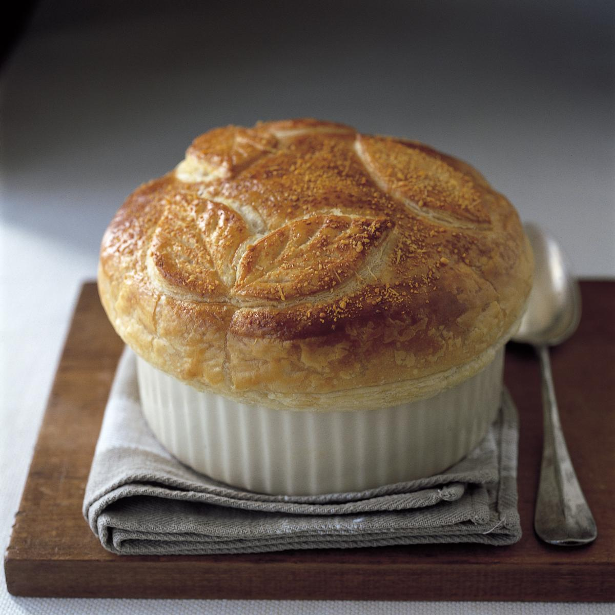 Chicken chicken and leek pot pie