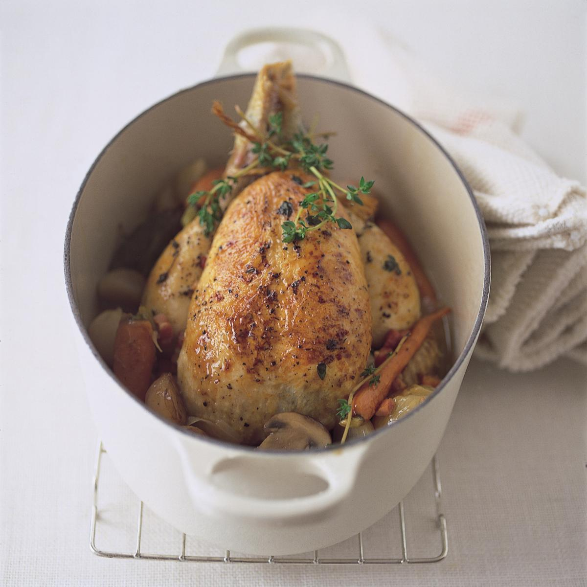A picture of Delia's Chicken in the Pot recipe