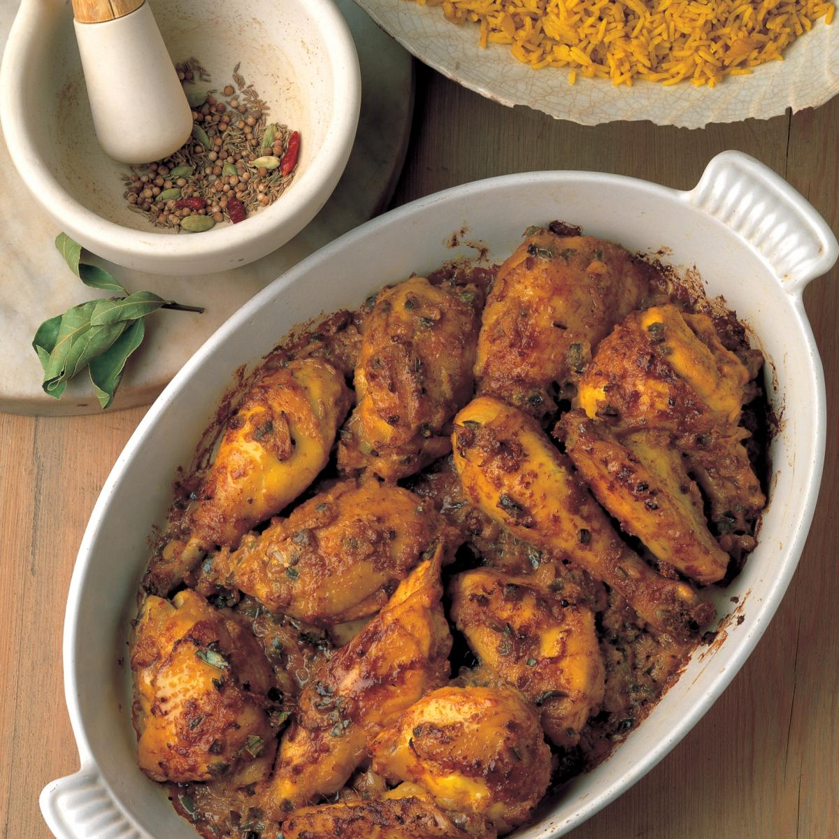 A picture of Delia's Chicken with Whole Spices recipe