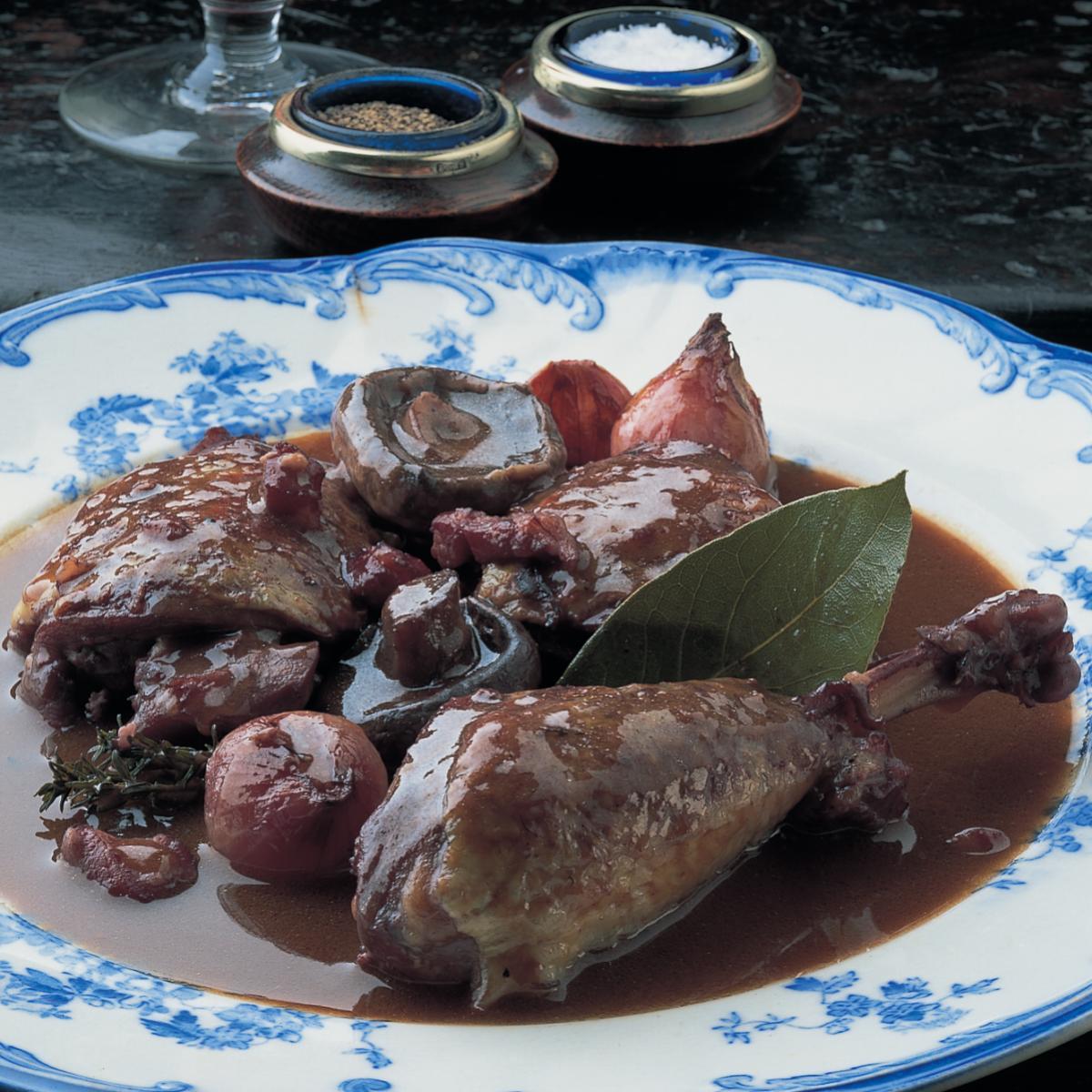 A picture of Delia's Coq au Vin recipe
