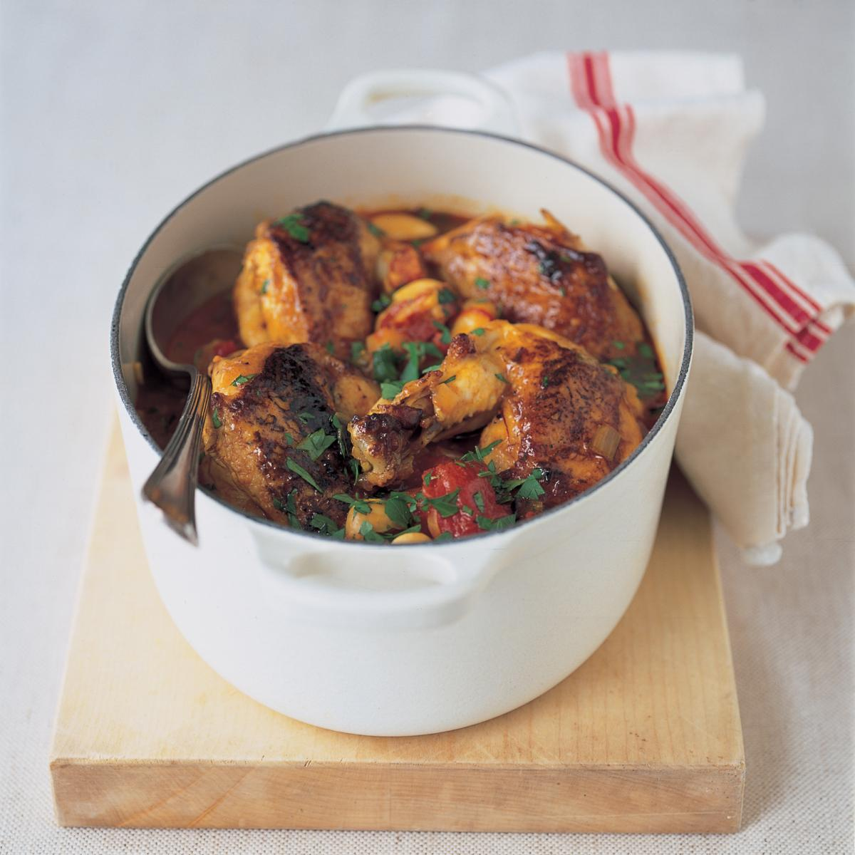A picture of Delia's Spanish Chicken with Butter Beans, Chorizo and Tomatoes recipe