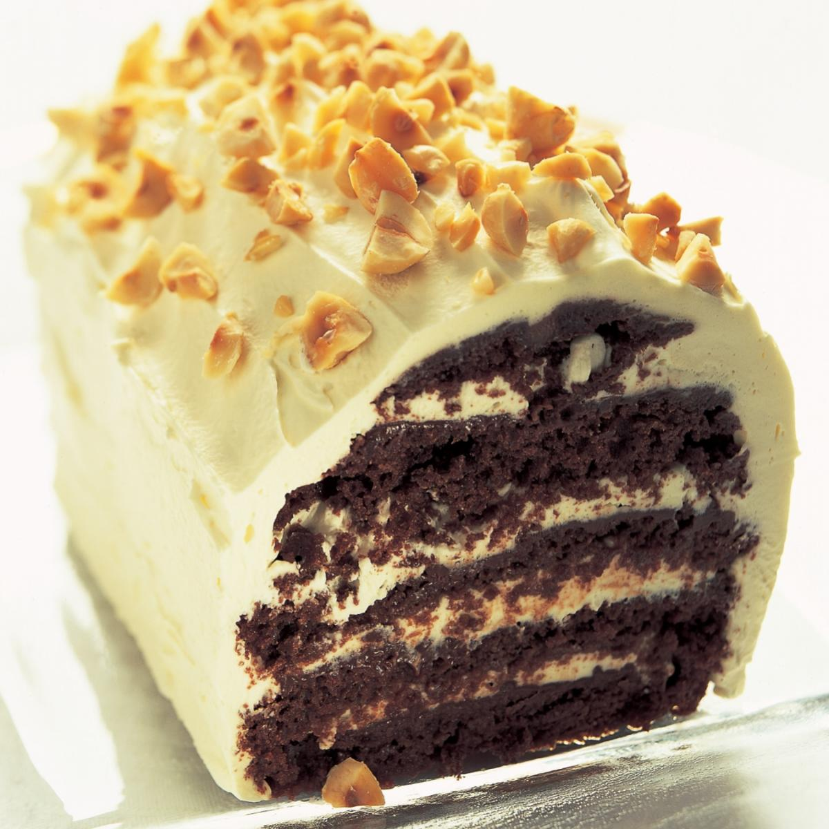 A picture of Delia's Cheats' Chocolate Rum Gateau recipe