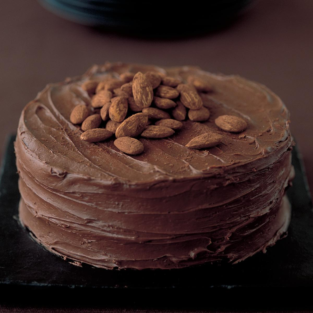 Chocolate Chestnut Souffle Cake