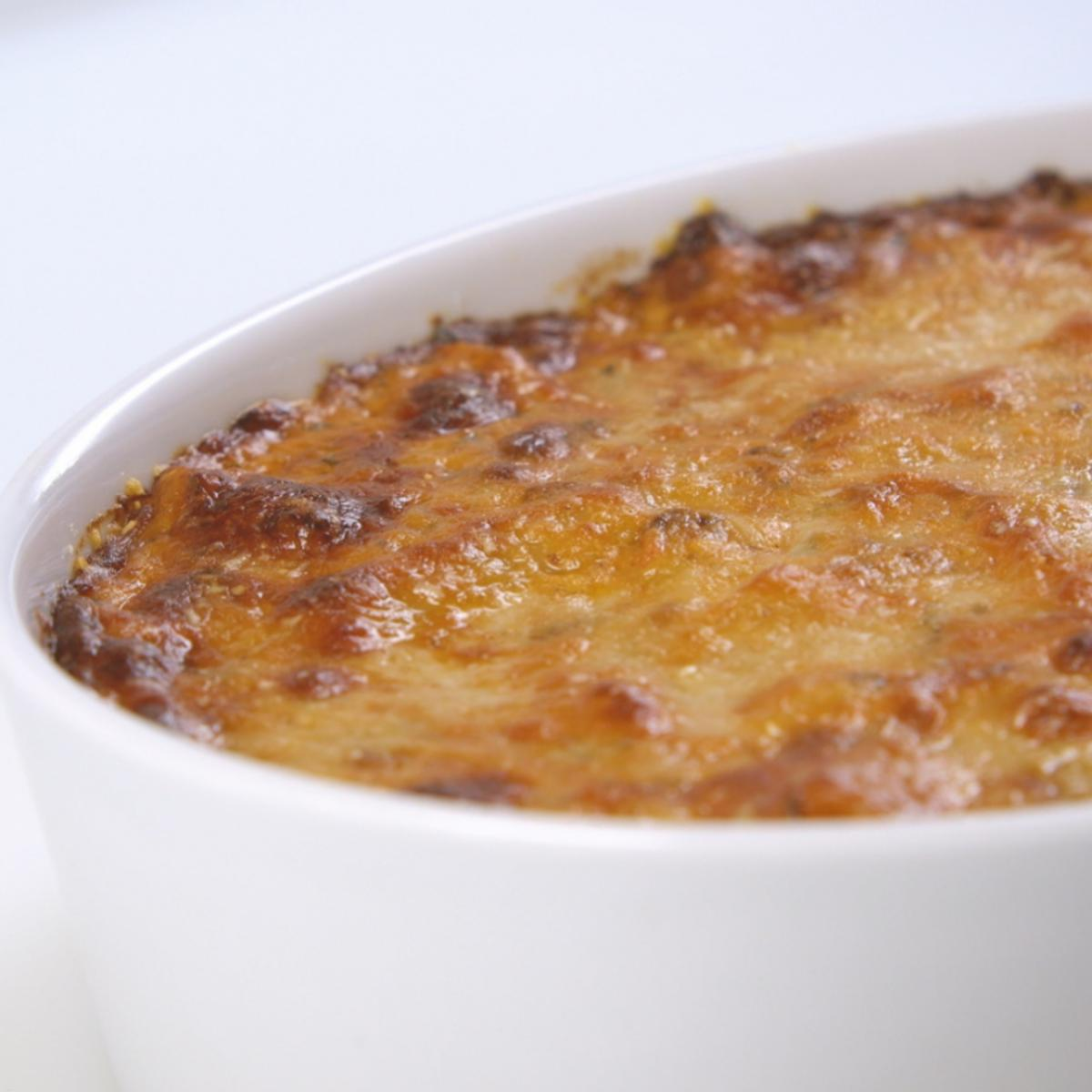 A picture of Delia's Baked Macaroni Pie recipe