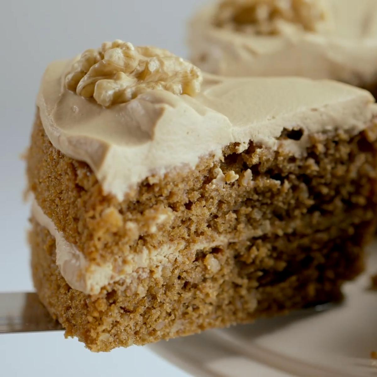 Coffee and Walnut Sponge Cake | Recipes | Delia Online