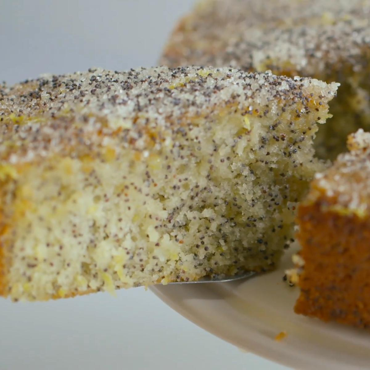 A picture of Delia's Double Lemon Drizzle Cake with Poppy Seeds recipe