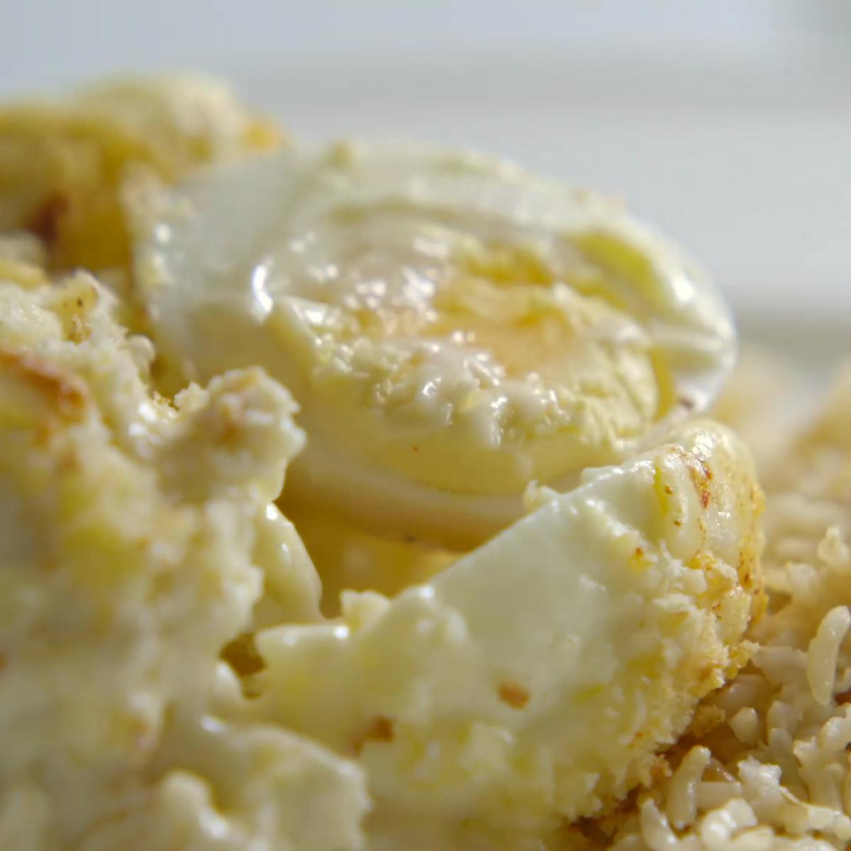 A picture of Delia's Gratin of Eggs with Cauliflower Cheese recipe