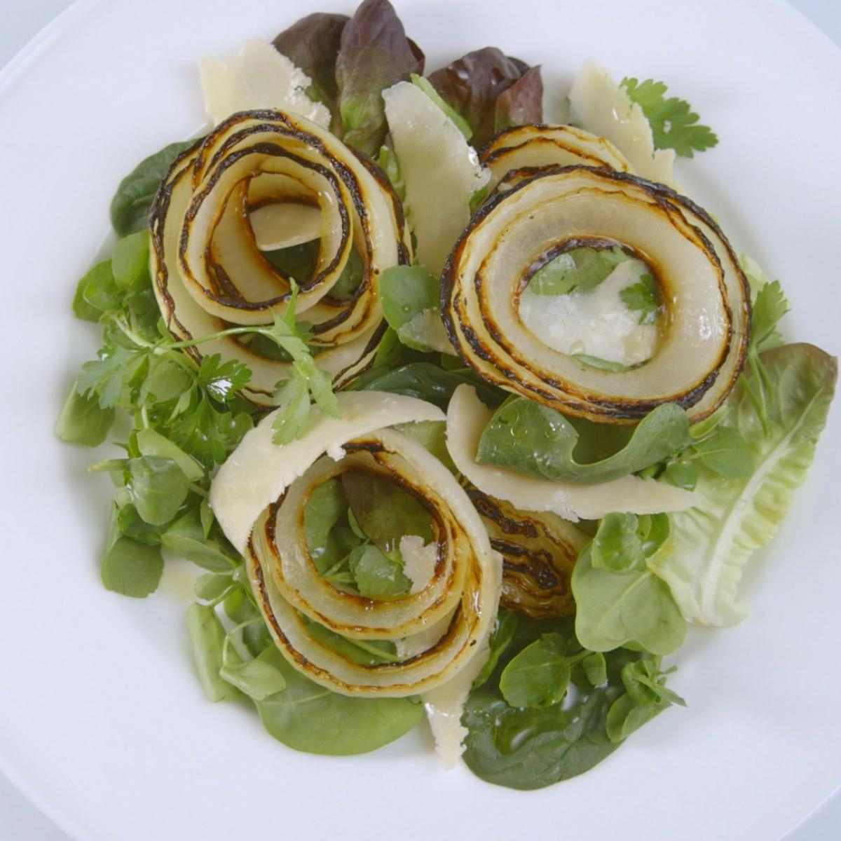 A picture of Delia's Grilled Spanish Onion Salad recipe
