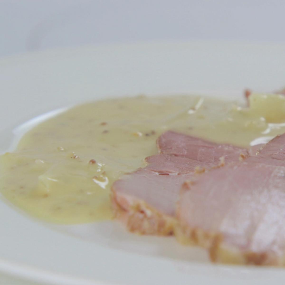 A picture of Delia's Onion and Mustard Sauce recipe
