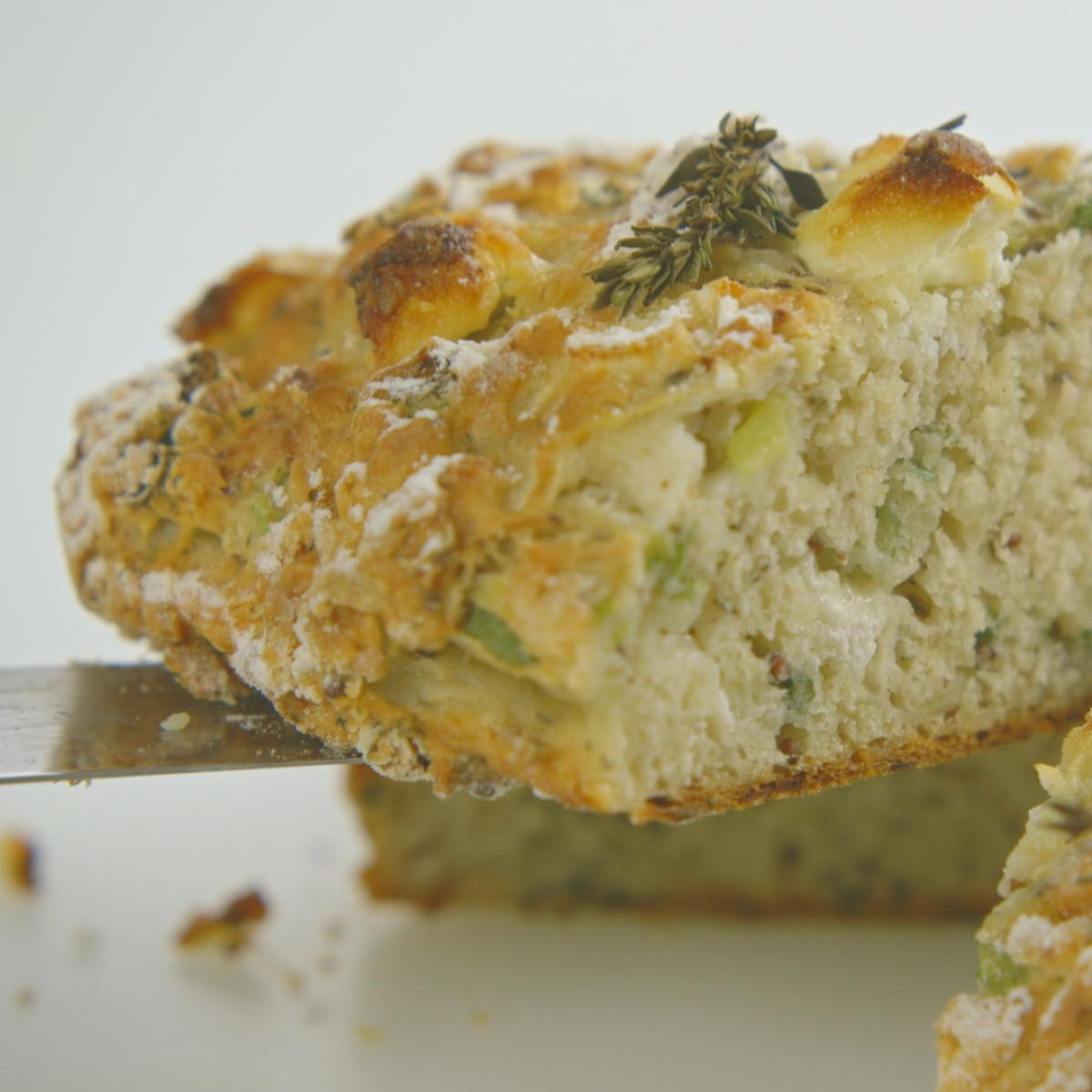 A picture of Delia's Potato Bread with Goats' Cheese and Thyme recipe
