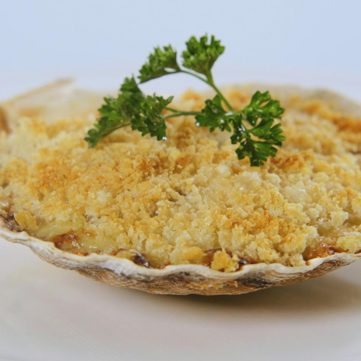 A picture of Delia's Scallops in the Shell recipe