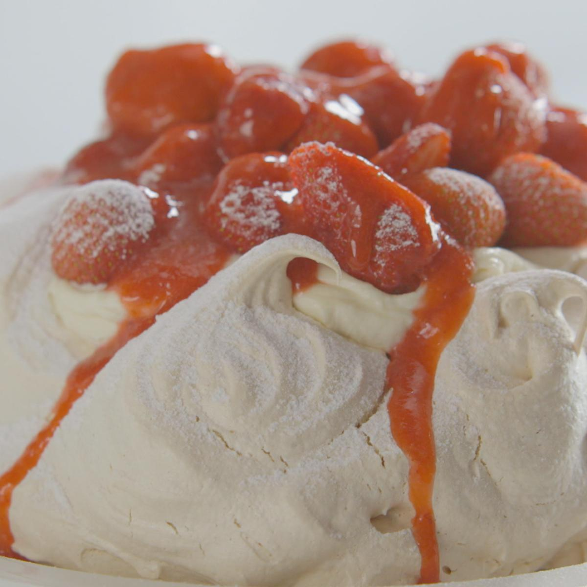 A picture of Delia's Strawberry and Vanilla Pavlova recipe