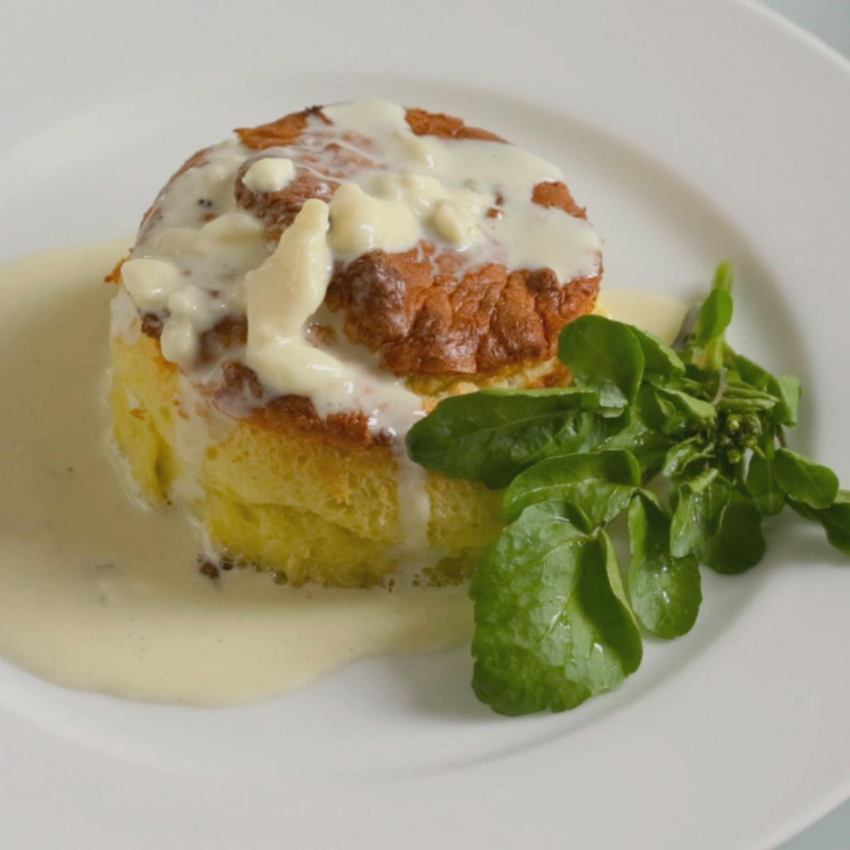 Cs twice baked roquefort souffles