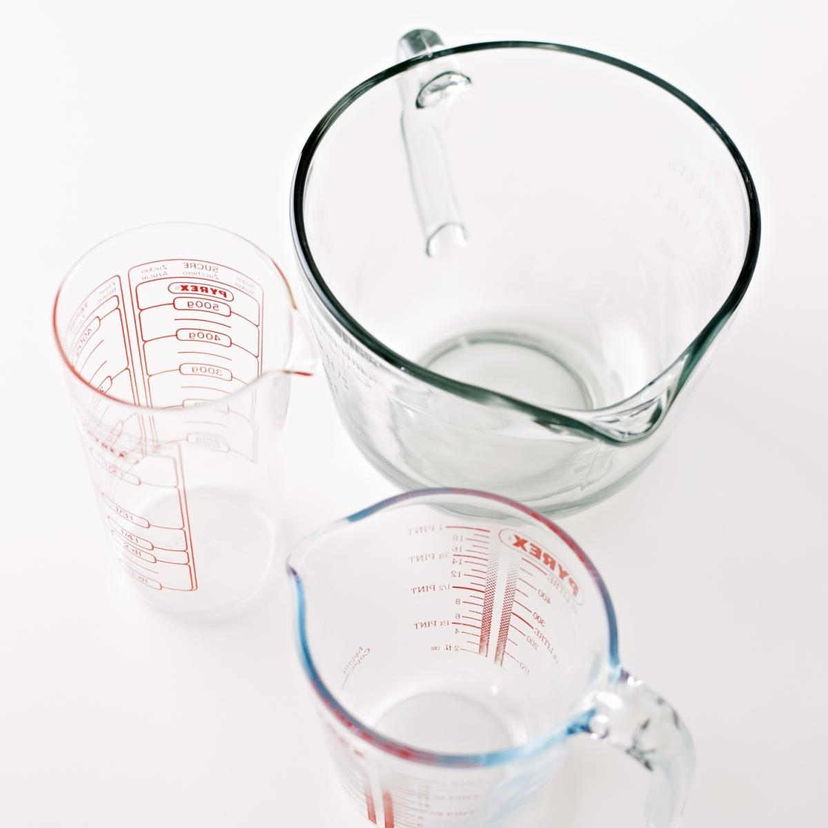 Equipment measuring jugs