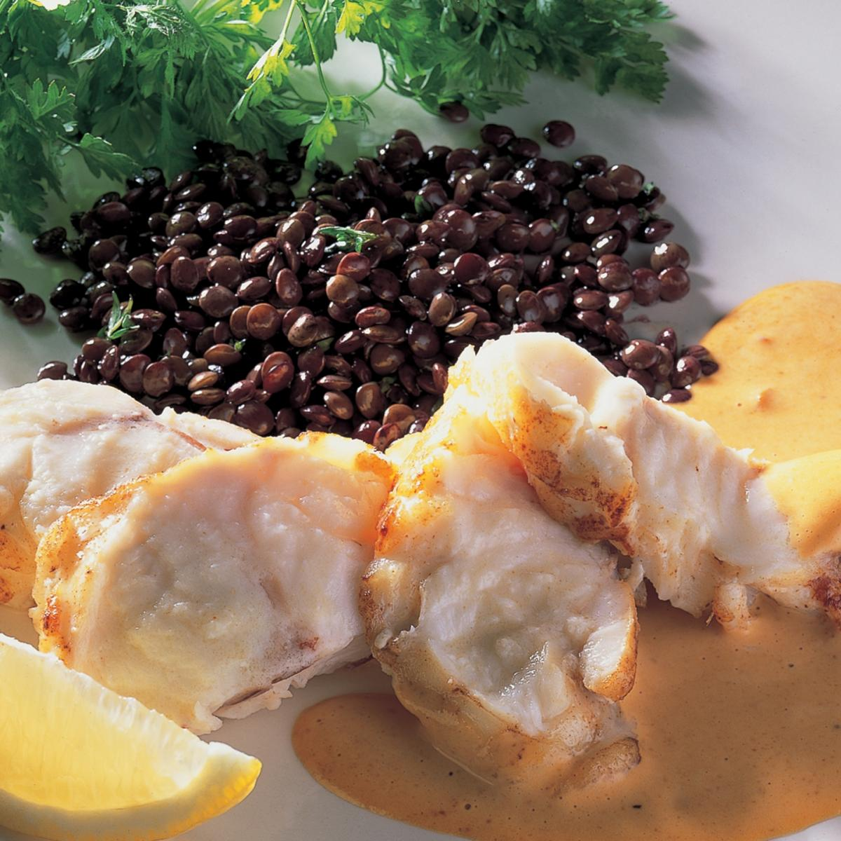 A picture of Delia's Roasted Monkfish with Romesco Sauce recipe