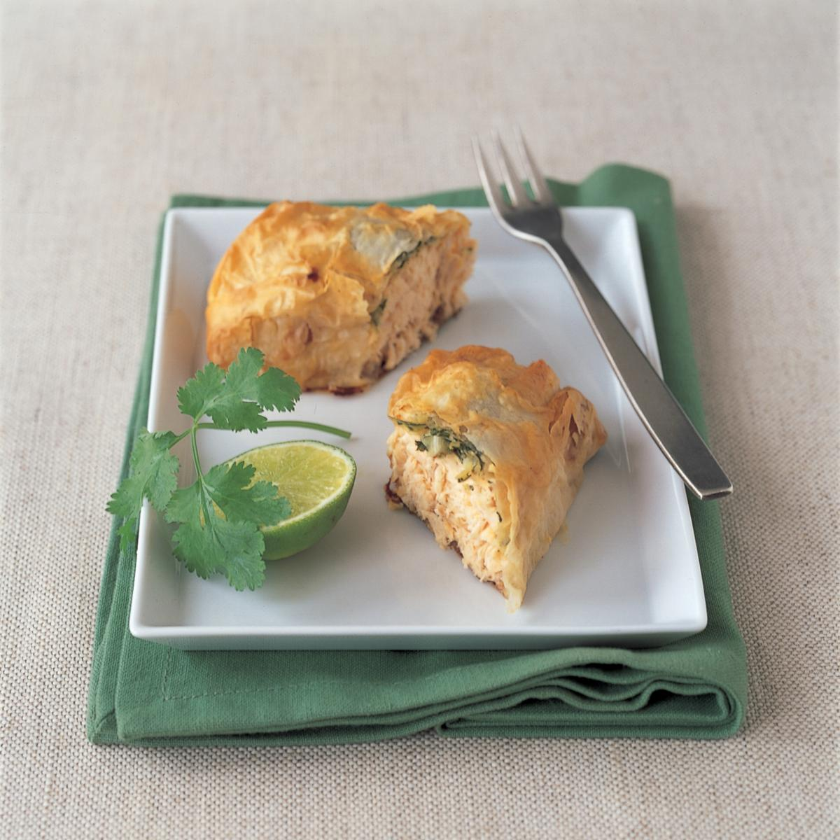 Thai Salmon Filo Parcels Recipes Delia Online