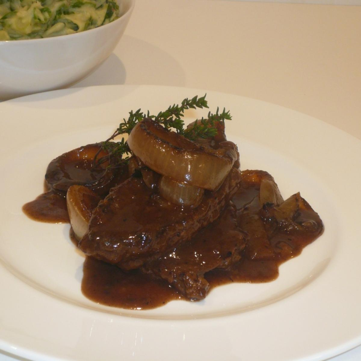 A picture of Delia's Steak and Onions in Guinness recipe