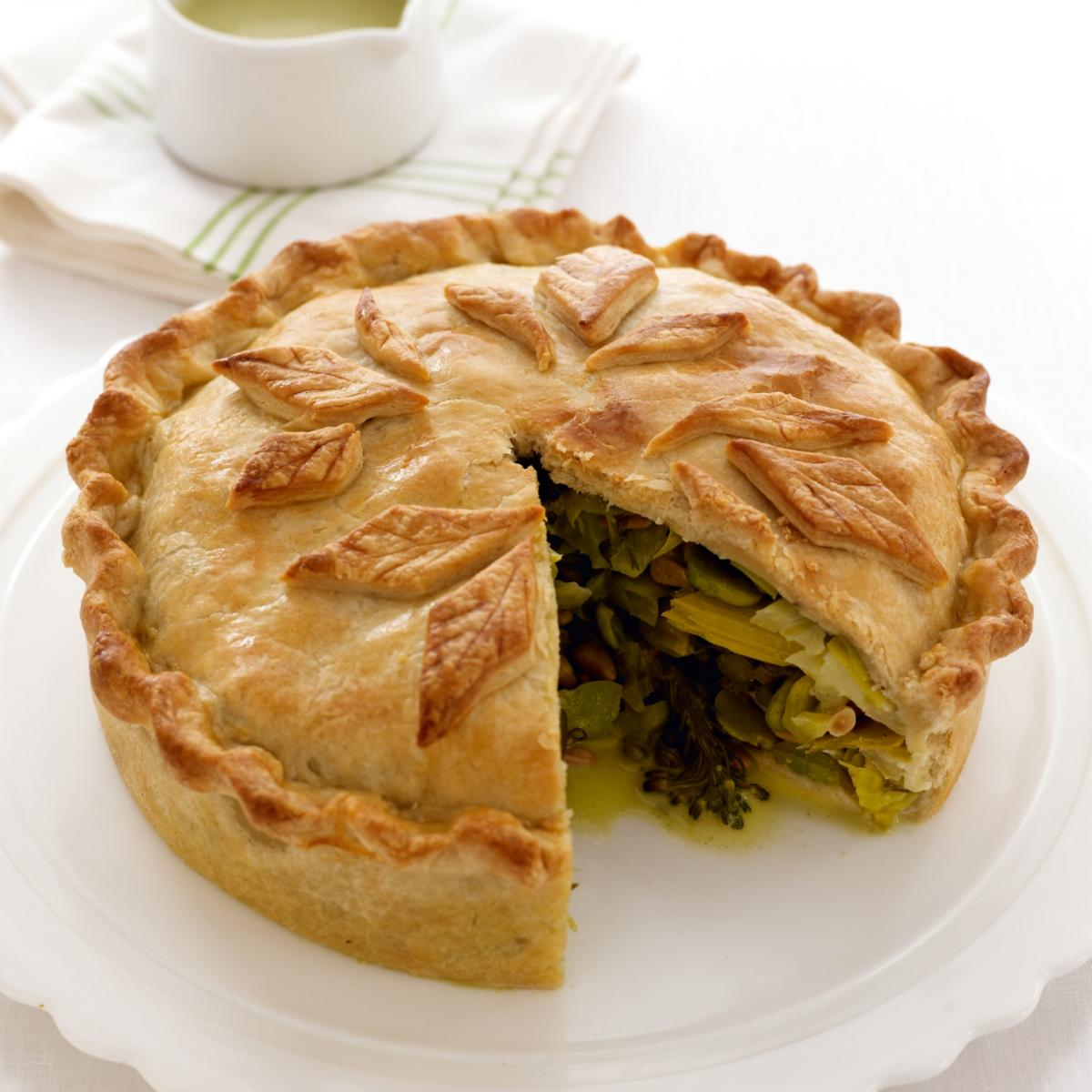 Happy a luxuriant vegetable pie