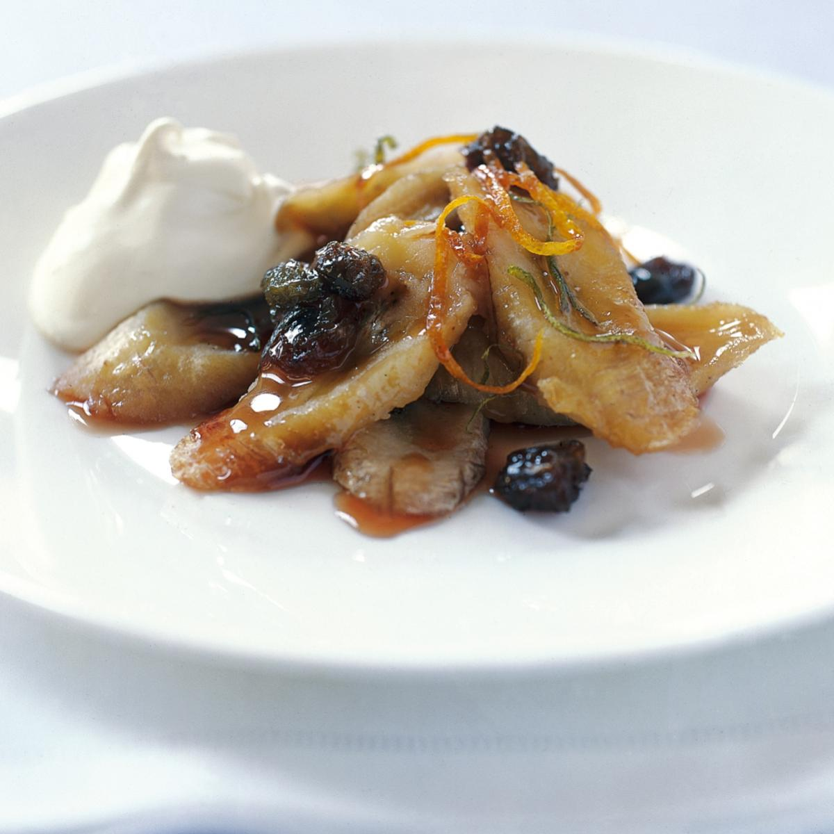 A picture of Delia's Bananas Baked in Rum With Rum Syllabub recipe