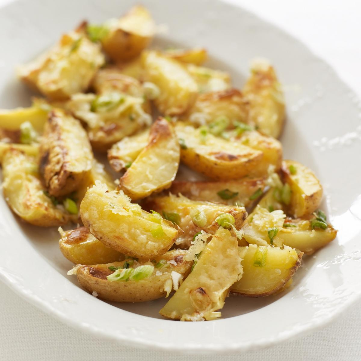 A picture of Delia's Jacket Potato Wedges with Melting Cheese and Spring Onion recipe