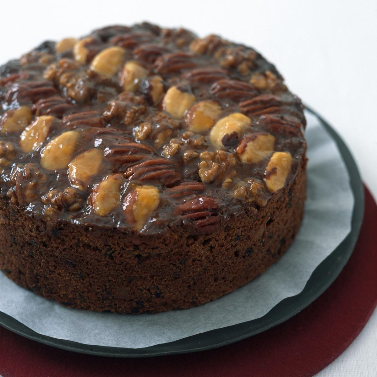 A picture of Delia's Last-minute Brandied Christmas Cake recipe