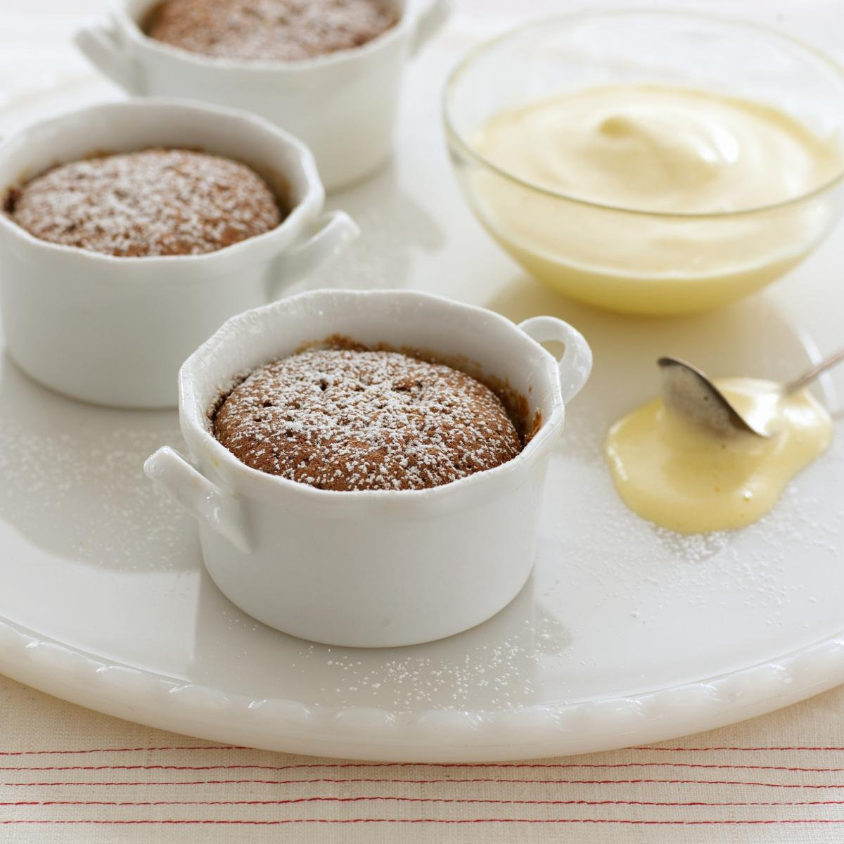 Happy little mincemeat souffle puddings