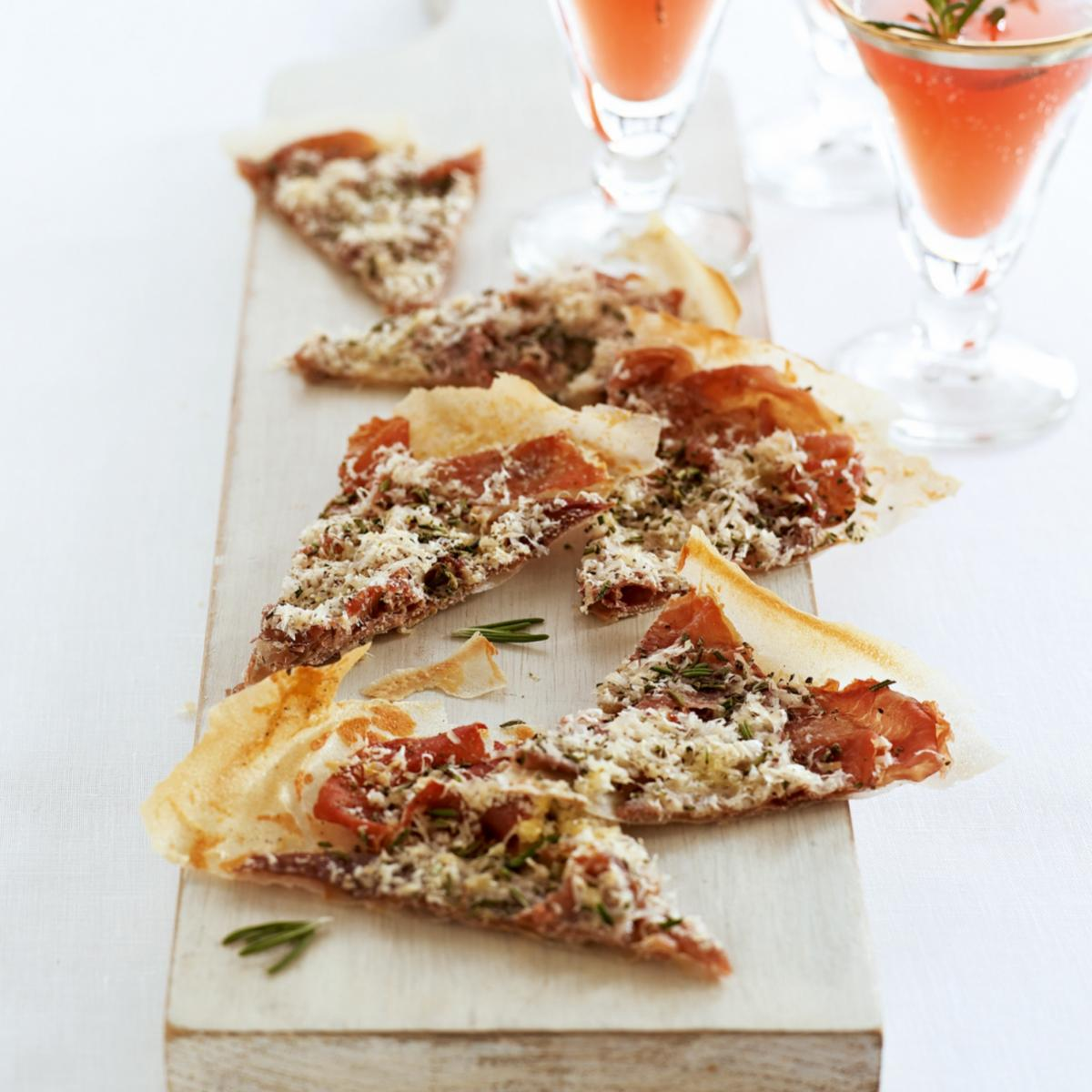 A picture of Delia's Parma Ham, Pecorino and Rosemary Crisps recipe