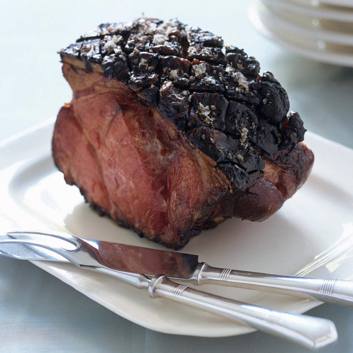A picture of Delia's Roast Collar of Bacon with Blackened Crackling recipe