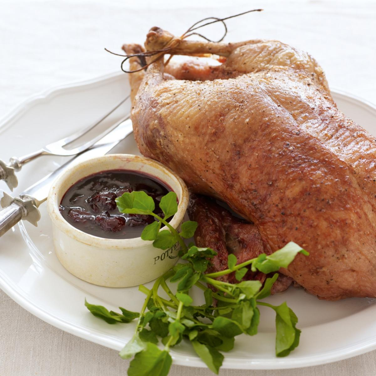 A picture of Delia's Roast Duck with Cherry Sauce recipe