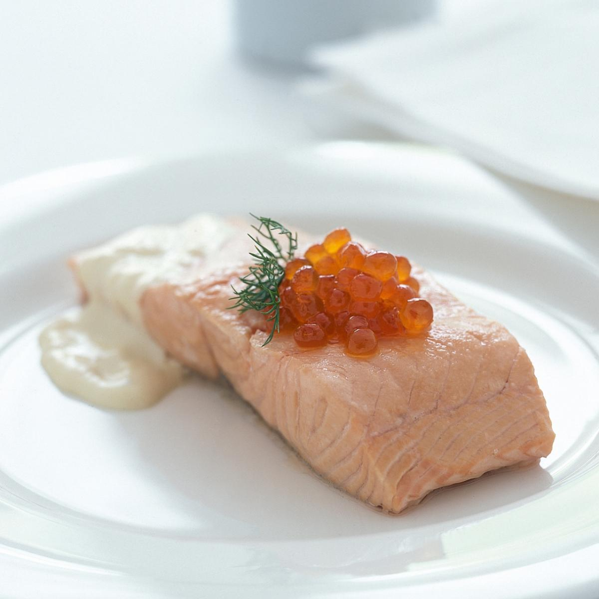 A picture of Delia's Salmon in Champagne Sauce recipe