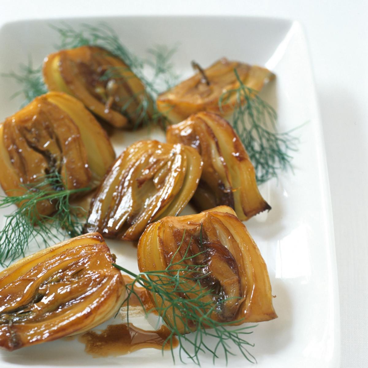 Happy sauteed caramelised fennel