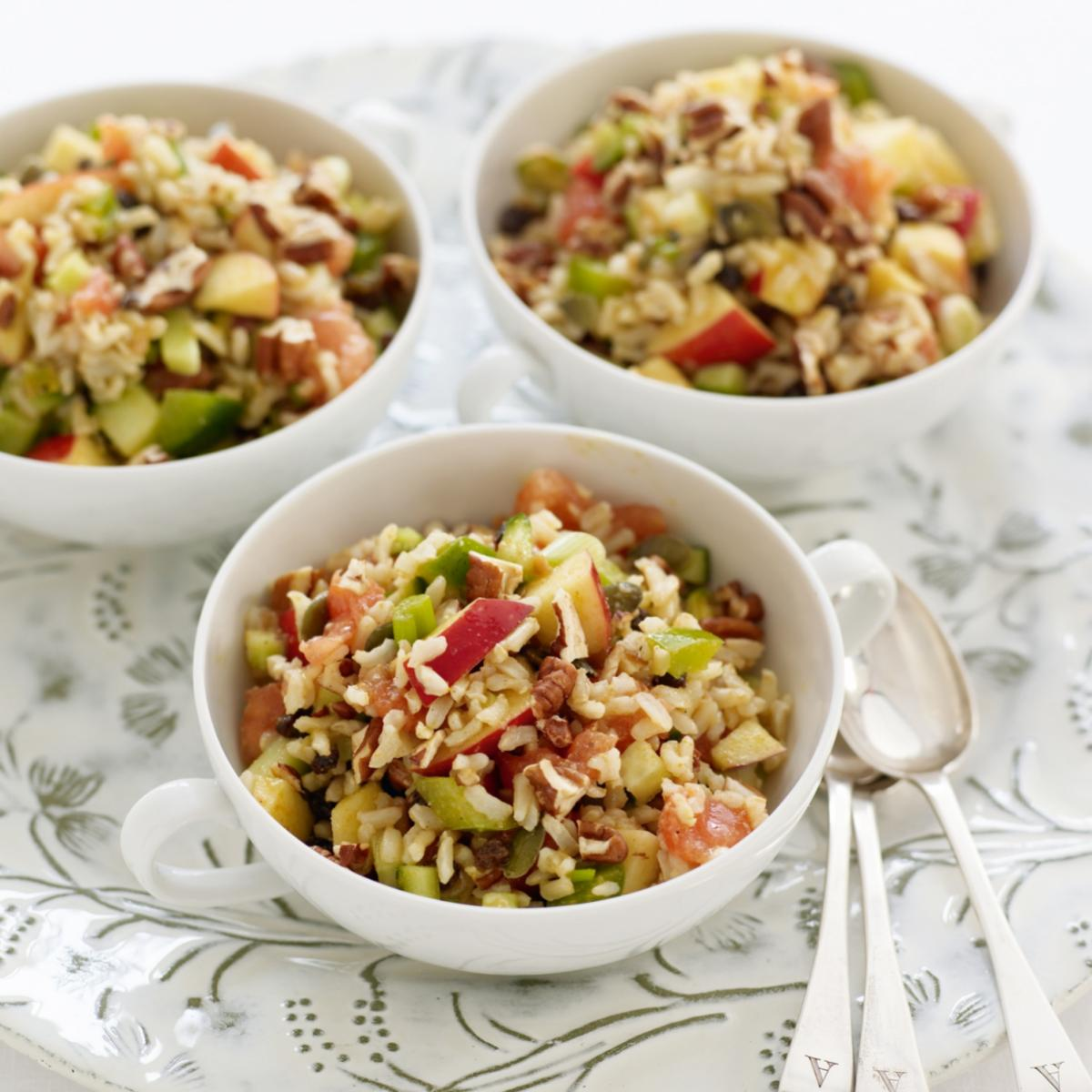 A picture of Delia's Spiced Brown Rice Salad with Nuts and Seeds recipe