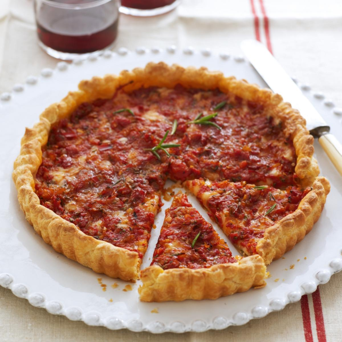 A picture of Delia's Tomato Tart with Swiss Cheese and Rosemary recipe
