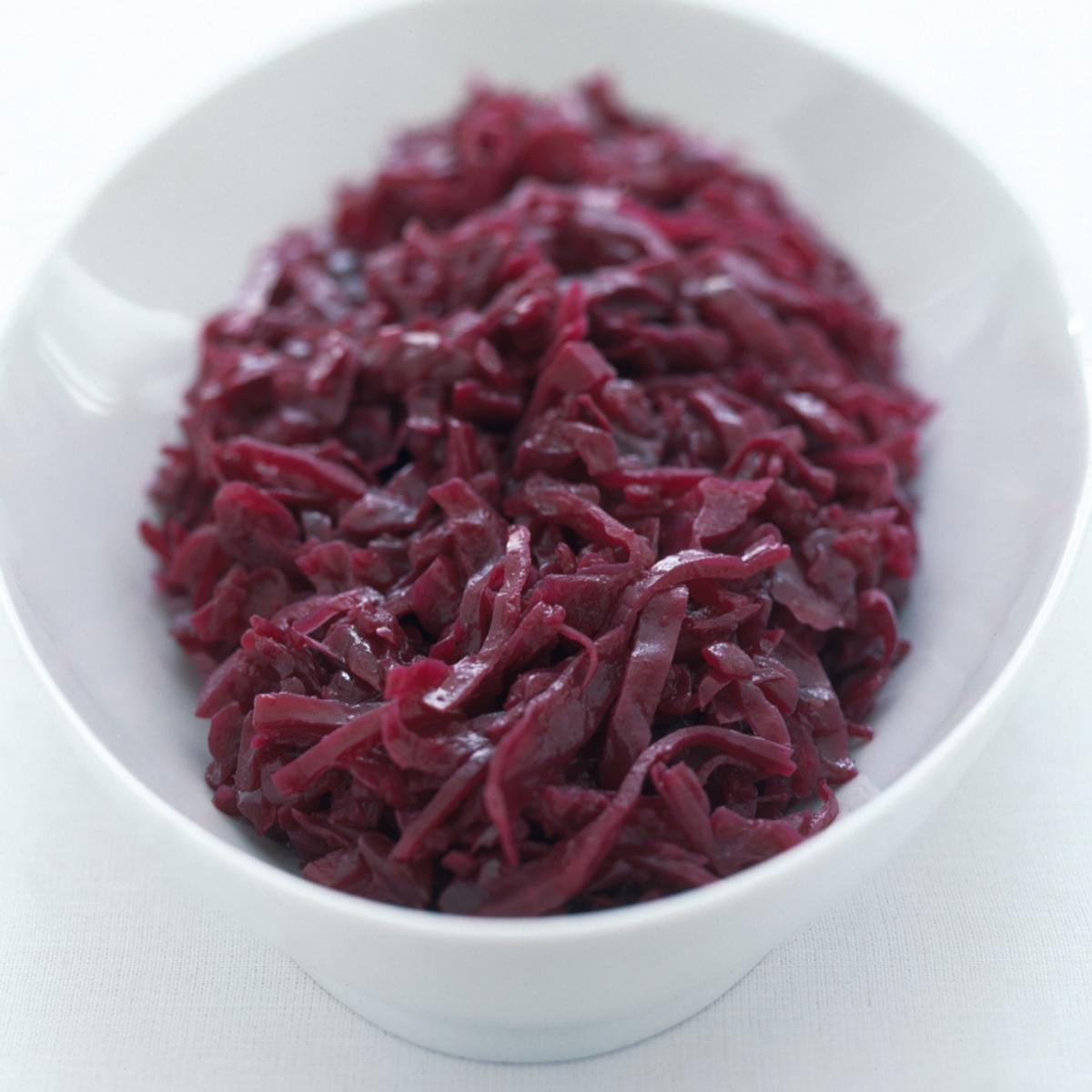 Happy traditional braised red cabbage with apples