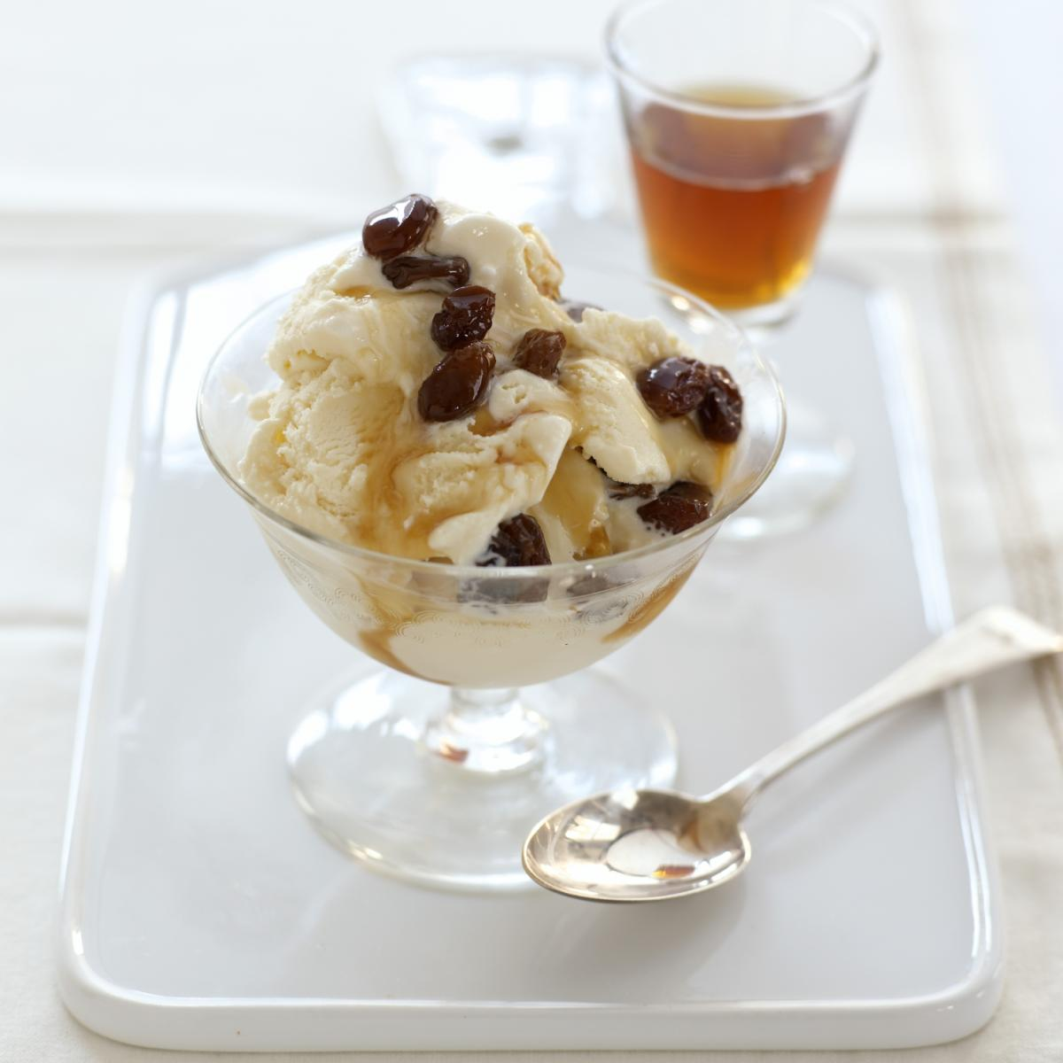 A picture of Delia's Vanilla Bean Ice Cream with Raisins Soaked in Pedro Ximenez Sherry recipe